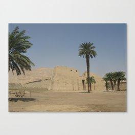 Temple of Medinet Habu, no.1 Canvas Print