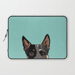 Australian Cattle Dog blue heeler pet portrait art print and dog gifts Laptop Sleeve