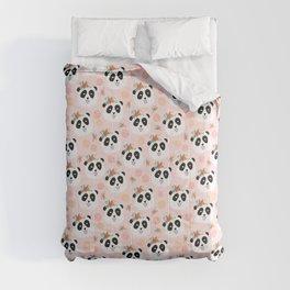 Panda bear with flowers seamless pattern Comforters