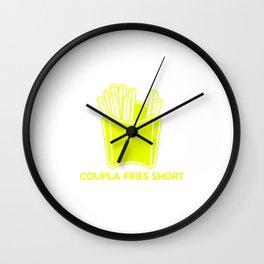 Coupla Fries Short Wall Clock