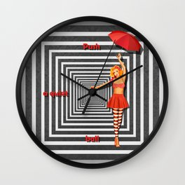 Push a quiet ball Wall Clock
