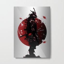illustration of samurai warrior Metal Print