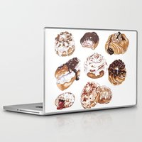 donuts Laptop & iPad Skins featuring Donuts by heatherinasuitcase