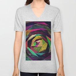 Quilted Rose Unisex V-Neck