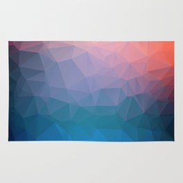 Abstract colorful triangles background Rug