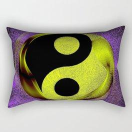 yin yang Ensō zen buddhism purple anise Rectangular Pillow