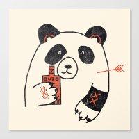 panda Canvas Prints featuring Panda by Farnell
