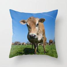Jersey Moo  Throw Pillow