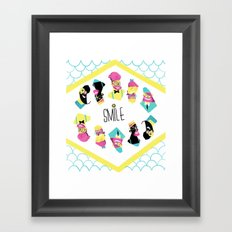Hipster Smile Framed Art Print