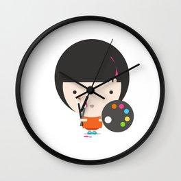 Little Artist Wall Clock