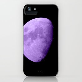4K Dark Side of the Moon Violet iPhone Case