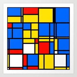 Mondrian Style Art Print