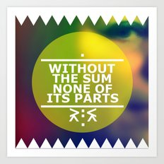 Sum and Parts Art Print