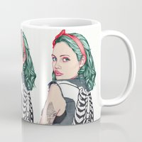 girl Mugs featuring GIRL by Laura O'Connor