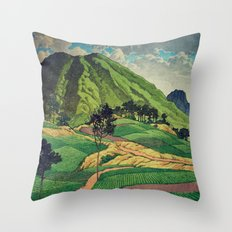 Crossing people's land in Iksey Throw Pillow