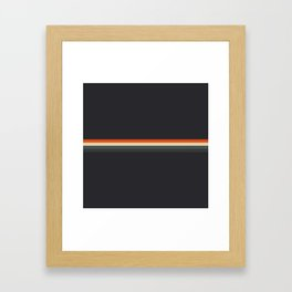 Fujitaka - Classic Dark Retro Stripes Framed Art Print