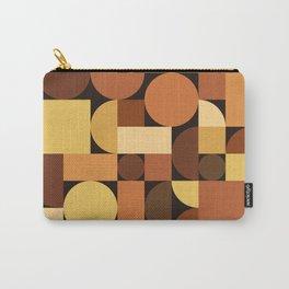 Mid Century Modern Geometric Orange Carry-All Pouch