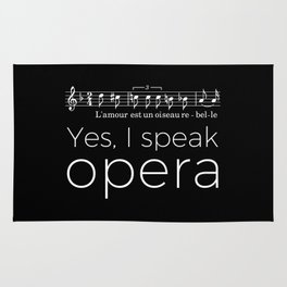 Yes, I speak opera (mezzo-soprano) Rug