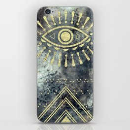 Evil Eye Gold iPhone Skin