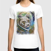 space cat T-shirts featuring Space Cat by Michael Creese