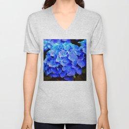 Hydrangea Blues Unisex V-Neck