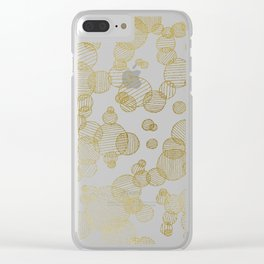 Striped circles - gold palette Clear iPhone Case