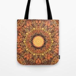 Marigold Mandala Tote Bag