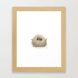 Baby owl Framed Art Print
