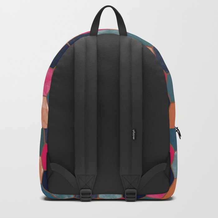 Colorful Honeycomb Backpack