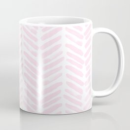 Handpainted Chevron pattern light pink stripes Coffee Mug