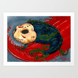 Koi Series, Curse of the Lake Art Print