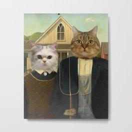"""American """"Cat""""thic Metal Print"""