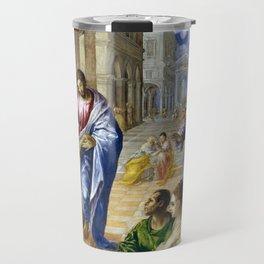 El Greco Christ Healing the Blind Travel Mug