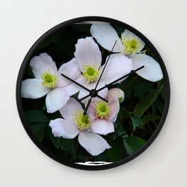 Clemantis Montana I1 Wall Clock