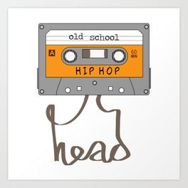 Old School Hip-Hop Head Art Print