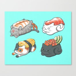 Sushi Cats Canvas Print