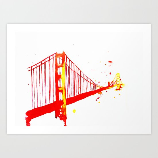 The Golden Gate Bridge Art Print
