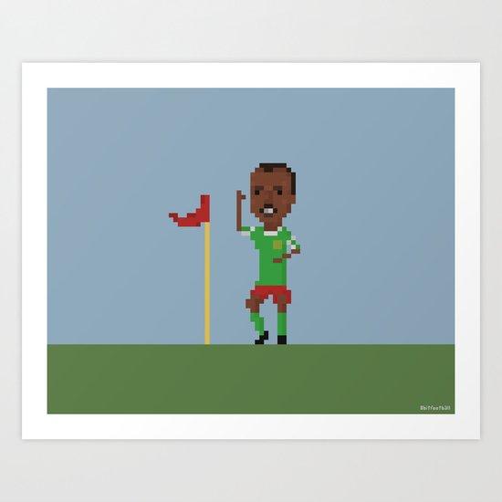 Roger Milla's goal celebration Art Print