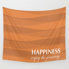 Orange for Happiness Wall Tapestry