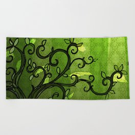 LEAVE - Summer Green Beach Towel