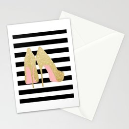 High Heels,Glitter Print,Gold Print,Wall Art,Home Decor,Fashion Illustration,Fashion Print,Gift Idea Stationery Cards