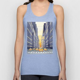 NYC, yellow cabs Unisex Tank Top