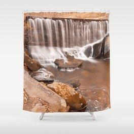 Rustic Rock Run Falls Shower Curtain