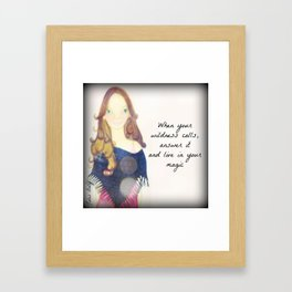 When your Wildness Calls Muse Mantra Framed Art Print