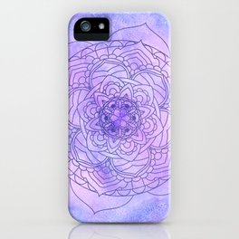 Waterolor Mandala FLower iPhone Case