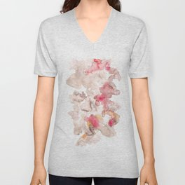 141203 Abstract Watercolor Block 74 Unisex V-Neck