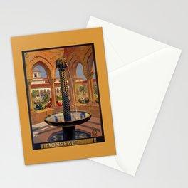 Palermo Monreale vintage 1920s Italian travel ad Stationery Cards
