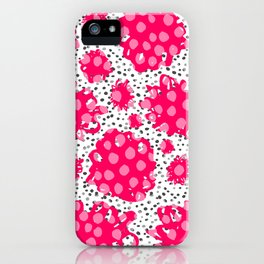 Pop out flowers iPhone Case