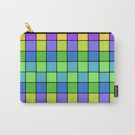 Pastel Chex Carry-All Pouch