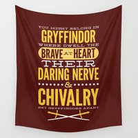 gryffindor Wall Tapestries featuring Gryffindor by Dorothy Leigh